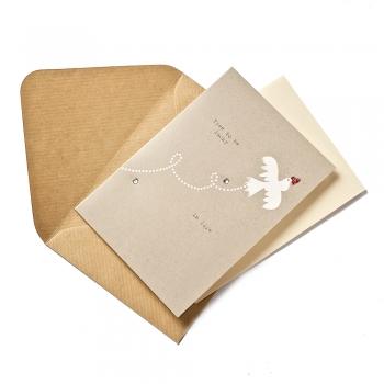 Листівка з конвертом Free to be in life