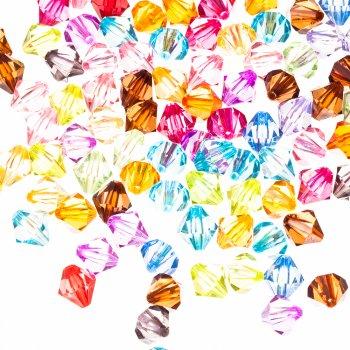 Двохконічні  кристали мікс 12 мм