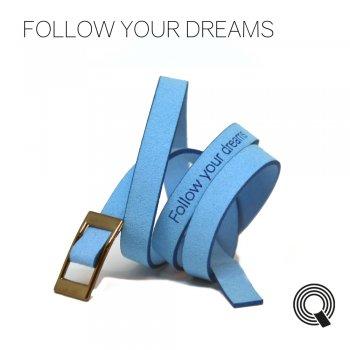 """Браслети квоутлети """"Follow your dreams"""", блакитний"""
