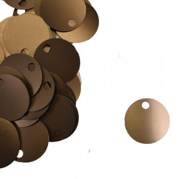 Паєтки для в'язання 40 гр коричневі матові