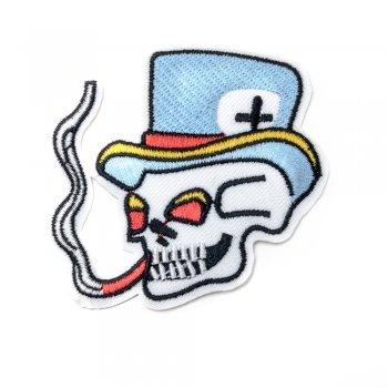 Нашивка Курящий череп в капелюсі