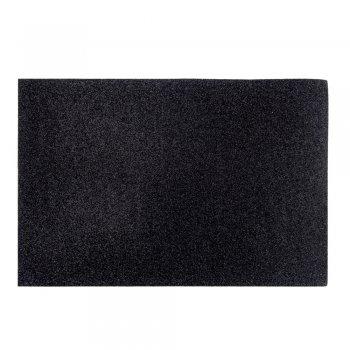 Фоаміран з глітером 20 х 30 см чорний