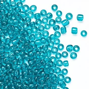 Бисер круглый, мелкий, голубой, прозрачный. Калибр 12 (1,8 мм)
