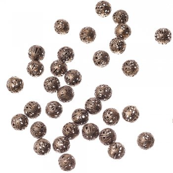 Ажурные бусины бронзовые 14 мм