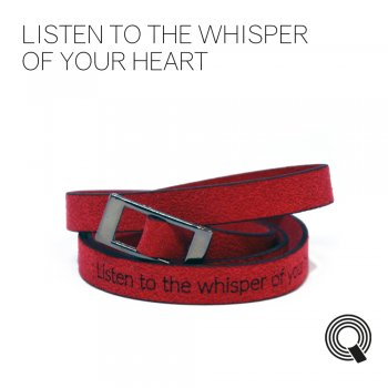 "Браслети квоутлети ""Listen to the whisper of your heart"", червоний"