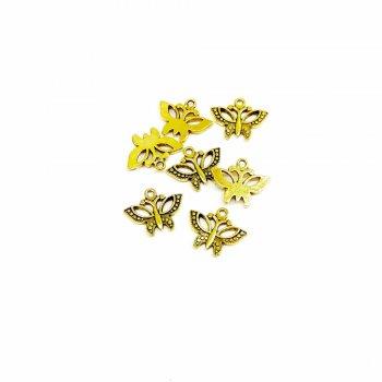 Бабочка. Металлические литые подвески черненое золото