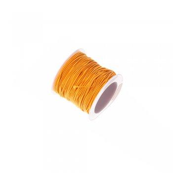 Шнур-резинка, полиэстер с эластаном, оранжевый, 1 мм