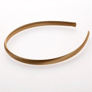 Обруч пластиковый с атласным покрытием золотисто-коричневый