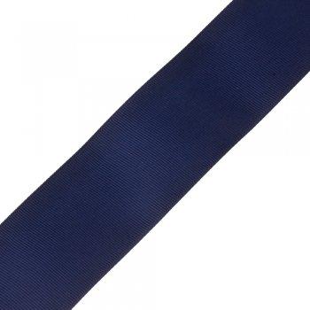 Лента репсовая 50 мм темно-синяя