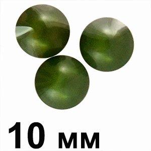 Пластикові кабошони 12 мм зелений круг