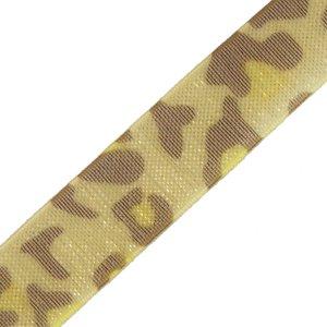 Стрічка з органзи 10 мм леопардова