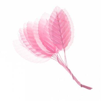 Штучні листя, рожевий, 50 мм