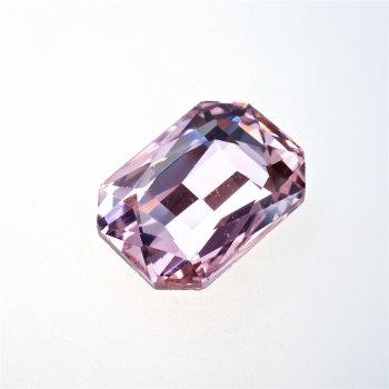 Стразы стеклянные вставные. Розовый. 25х18 мм