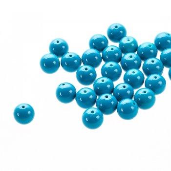 Стекло однотонное полной окраски. Ярко-голубой. Диаметр 14 мм.