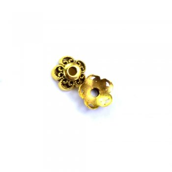 Металевий литий обіймач, під чернене золото, 10 мм