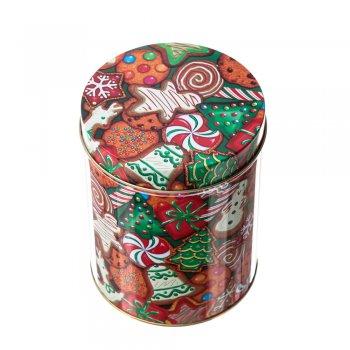 Коробочка бляшана 11х14см солодощі на різдво
