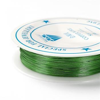 Дріт мідний зелений 0,3 мм