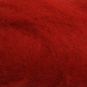 Шерсть-кардочёс новозеландская красный бархат 27 мкм 25г, К 3001