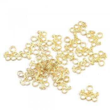 Металлическая фурнитура. Соединительный элемент. Золото.