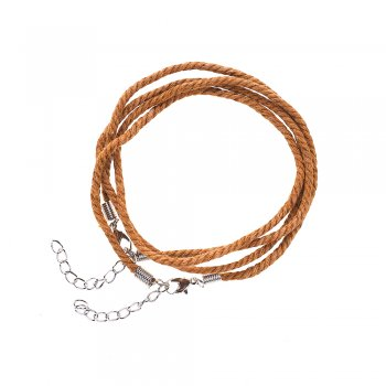Шнур для кулона, хлопок, коричневый