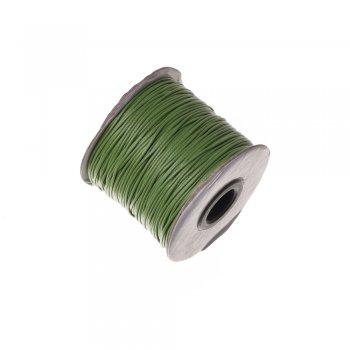 Плетёный шнур зелёный, хлопок , 1 мм