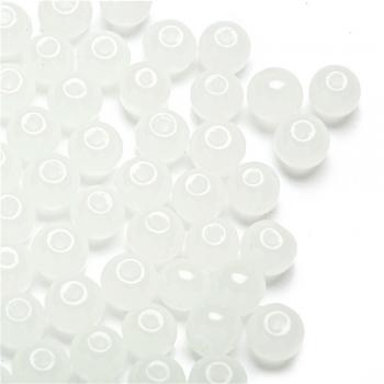 Намистина скляна під камінь 6 мм молочна