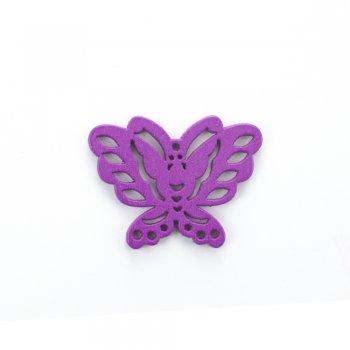 Дерев'яна підвіска Метелик Фіолетовий
