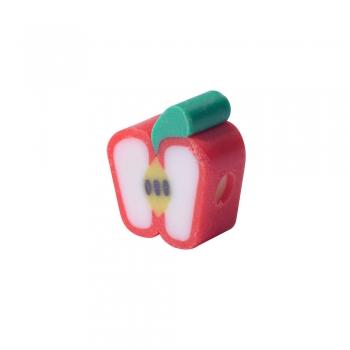 Намистина з полімерної глини Яблуко червоне 10 мм