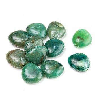 Пластик під камінь прозорий зелений
