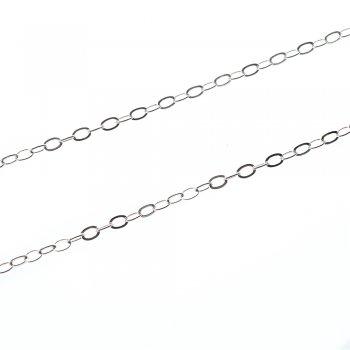 Цепь серебристая с застежкой якорная 3х4х0,6 мм