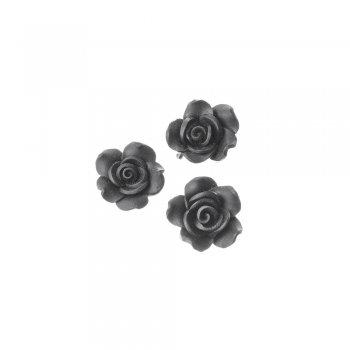 Чорна троянда. Намистина з полімерної глини, 25 мм