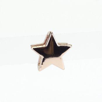 Бусина слайдер Звезда розовое золото