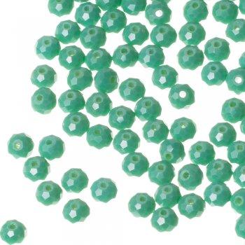 Намистина кругла, зелена, кришталь, 6 мм