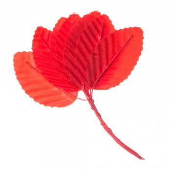 Искусственные листья красные