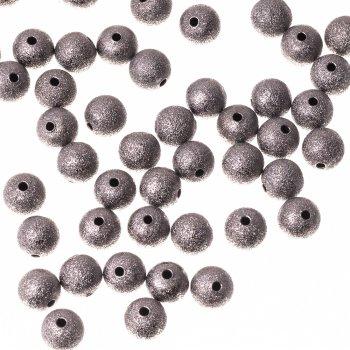 Металлические бусины. Темное серебро.