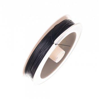 Металева волосінь 100 м (+-10%). Коричневий. 10 м, діаметр 0,38 мм