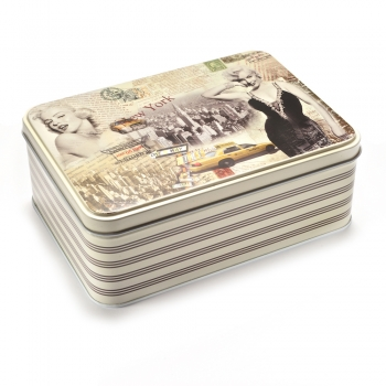 Коробочка жерстяна 19х13,5х6,9 см Мерилін Монро