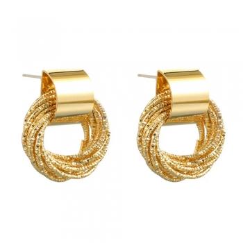Сережки з кільцями золоті (пара)