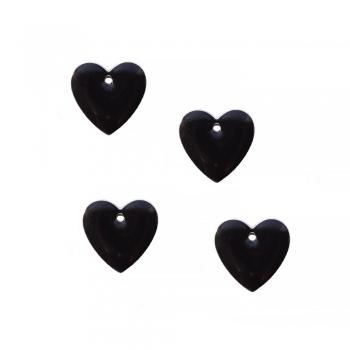 Металлическая подвеска Сердце черное