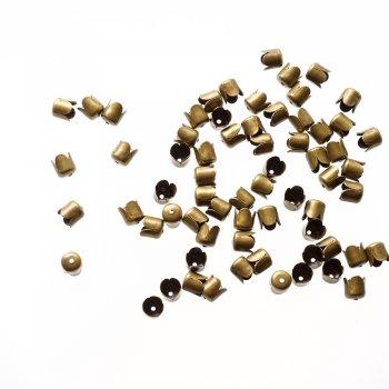 Колпачки бронзовые 4 лепестка