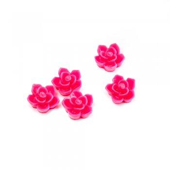 Пластиковые клеевые элементы. Цветок розовый