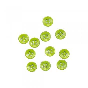Пластиковые пуговицы зеленые