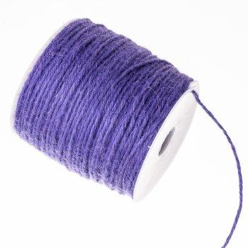 Нить джутовая, фиолетовая, 1 м