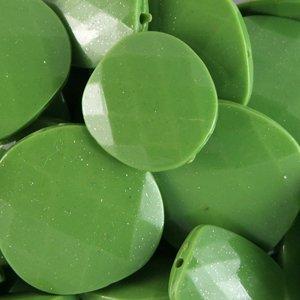 Пластикові намистини з блиском зелені округлі великі