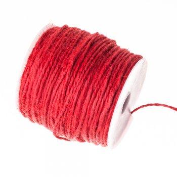 Нить джутовая, красная, 1 м