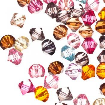 Пластиковые кристаллы розовые