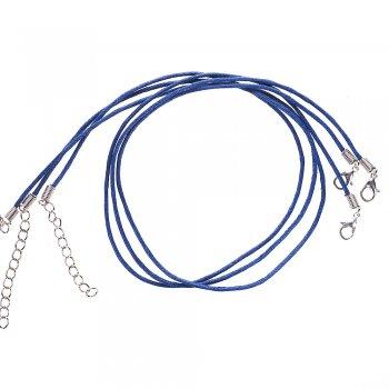 Шнур для кулона, полиэстер, тёмно-синий