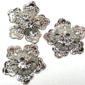Обниматели ажурные мельхиоровые цветок 16 мм