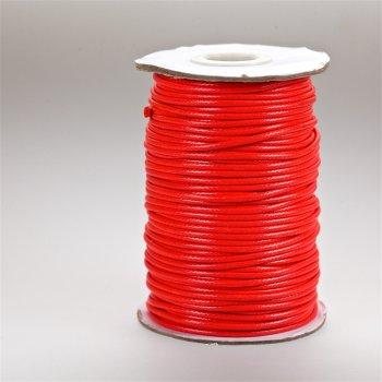 Плетёный шнур красный хлопок 2 мм