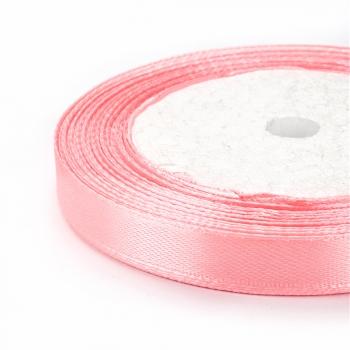 Лента атласная 10 мм розовая светлая